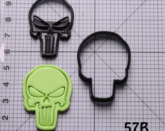 Punisher Cookie Cutter Punisher Fondant Cutter Punisher Birthday Gift Punisher Gift Punisher Party