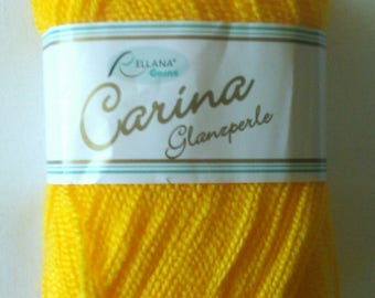 Carina gloss Pearl 50 gr. Yellow Sun 21 for knitting and crochet