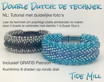 Kumihimo Techniek Double Dutch Tutorial met GRATIS patroon