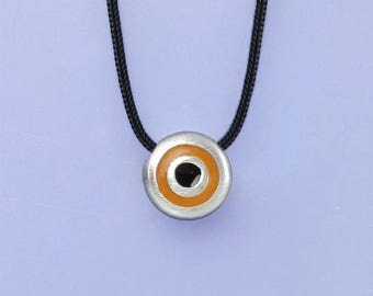 fresh evil eye silver charm necklace, protection from evil charm, creative good luck charm necklace, protection talisman
