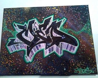 Original Graffiti Art Wall Art Canvas Painting By MEDS TKS Street Art Home deco cool gift ideas bedroom art