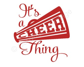 Decal - It's a Cheer Thing - For car, laptop, cell phone, cups, etc.