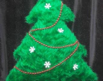 """Christmas """"fur"""" Tree Cushions"""