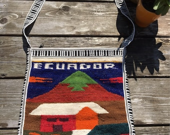 Ecuador purse messenger bag cross body