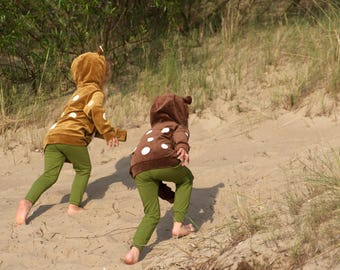 Hooded Sweatshirt Hoodie Kinderhoodie FAWN Brown gifts