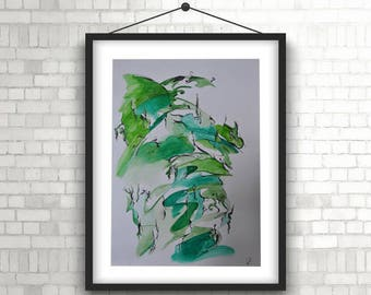 Illustration Print - Monkey Tree
