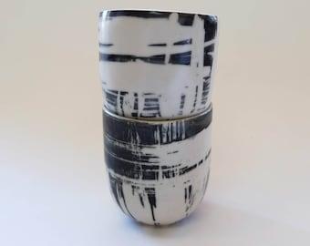 ceramic cup, black cup, tea cup, coffee mug, Handmade pottery, Gift, Wedding, Birthday, Osnat Raichman