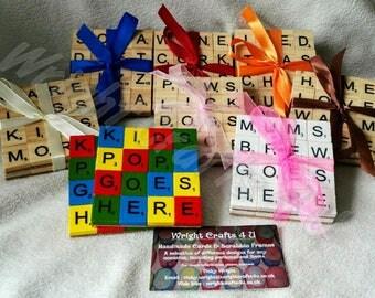 Scrabble coasters. Coasters. Housewarming gift. New home gift. Homemade coasters. Scrabble decor.