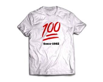 Handmade screen printed keep it 100 t'shirt