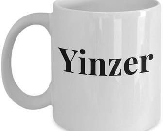 "Funny Mug For Pittsburgher!! - ""Yinzer"" - Great Gag Gift - Ceramic Coffee Mug or Tea Cup"