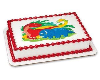 Dinosaurs Edible Frosting Sheet - 1/4 Sheet