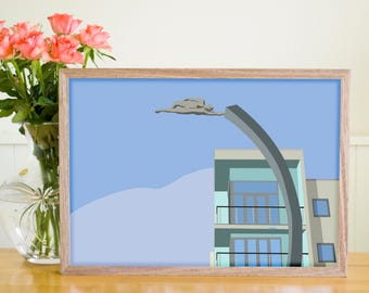 The Flying Man | Digital Art Print