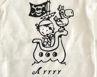 Pirate Infant Bodysuit, Baby Shower Gift, Funny Infant Bodysuit, New Baby Gift, vinyl baby bodysuit, Baby Bodysuit, Arrrggg, Pirate shir