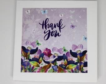 Set of 5 Thank You Notelets, Thank You Cards, Thank You Notelets