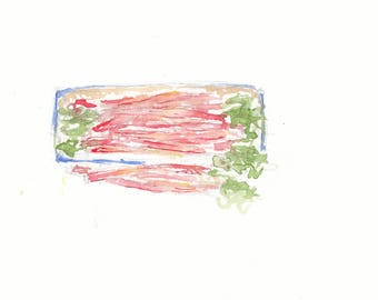 Rhubarb watercolour sketch