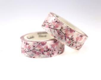 Sakura Washi Tape/ Floral Washi Tape/Striped Washi / Masking tape/ japanese washi tape/Planner Supplies