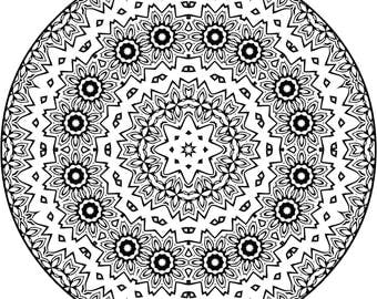 Mandala for you to Color