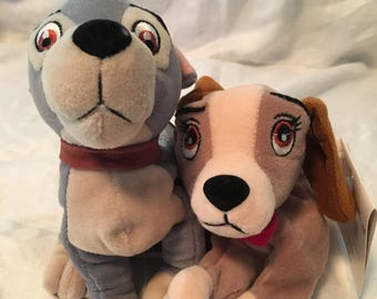 Vintage lady and the tramp stuffed animals