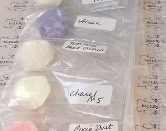 Top 5 luxury designer wax melts x5 highly scented tom foord channel aliens j choo lush dupe