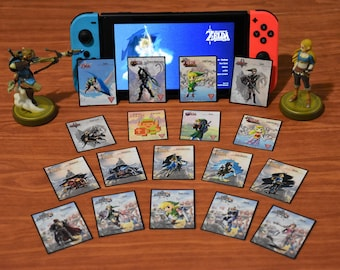MINI Custom Zelda Amiibo NFC Tag Card Set (18) SSB, 30th, BotW