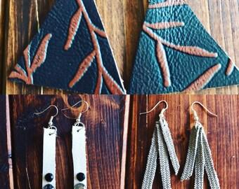 Leather earrings !