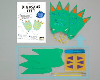 Make Your Own Dinosaur Feet Kits - Perfect for Party Bags