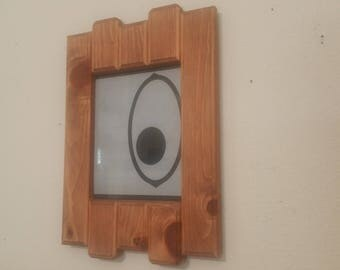 Pinewood Picture Frame, staggered slats, handmade