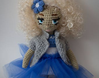 Doll 32 cm, unique handmade, crocheted