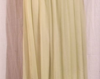Lime green color chiffon long skirt