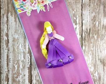 Rapunzel Ribbon Sculpture, Rapunzel from Tangled Inspired Hair Clip, Princess Inspired Hair Clip, Girls Hair Accessories