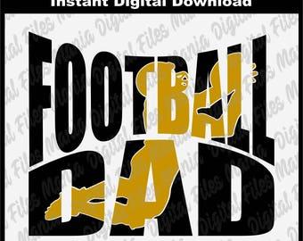 Football Dad Svg, Eps, Dxf, Footbal Mom Football svg Football sports Sports svg Svg School School svg