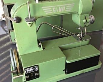 Vintage swiss sewing metal elna town Switzerland Nahmaschine sewing MACHINE