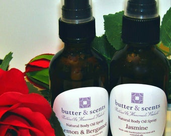 Natural Body Oil Spray l Moisturizer l Essential Oils l Alcohol Free Fragrance Oils l Paraben Free