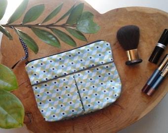 Coated fabric make-up bag