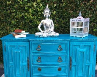 Large Blue Shabby Chic Dresser