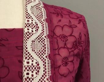 Vintage handmade unusual blouse