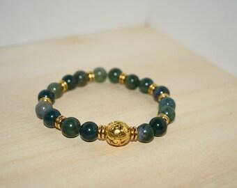 Indian Agate Beaded Bracelet