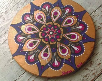 mandala wooden bord acrylic painting house gift wall decor