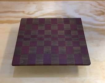 Long Grain Cutting Board made of Maple and Purple Heart