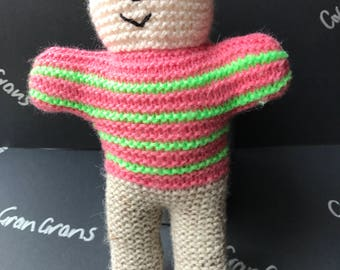 Cute hand knitted bear