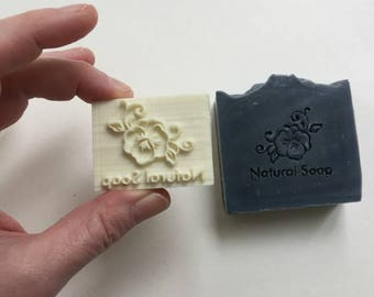 Soap Stamp - Natural Soap Stamp - Resin soap stamp for soap - 2 x 1.5 inches - decorative soap stamp - impression soap stamp