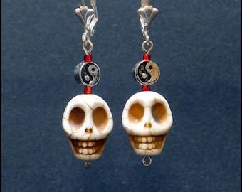 """""""Death's head"""" earrings OOAK"""