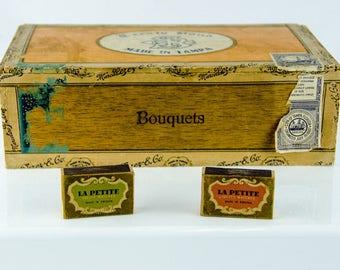 Vintage Treaty Bond Marcelino Perez Cigar Box & La Petite Safety Matches Sweden