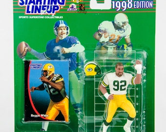 Starting Lineup 1998 NFL Reggie White Action Figure Green Bay Packers
