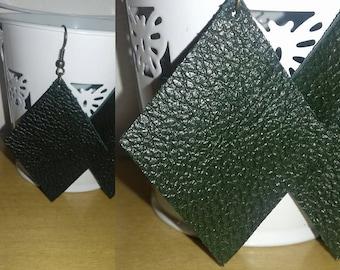 Gorgeous soft Leather diamond drop earrings