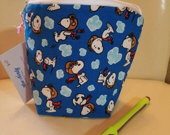 Snoopy Red Baron Small Zipper Bag