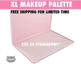 XL Makeup Palette Pink - Magnetic - Fits 54 Eyeshadows*