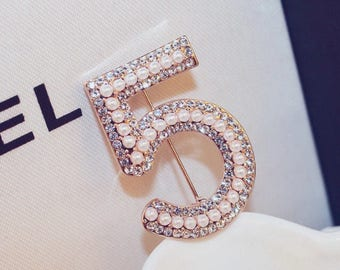 Chanel Inspired No.5 brooch