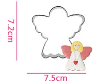 Angel Cookie Cutter- Fondant Biscuit Mold - Pastry Baking Tool Set