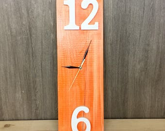 Orange Time wall clock